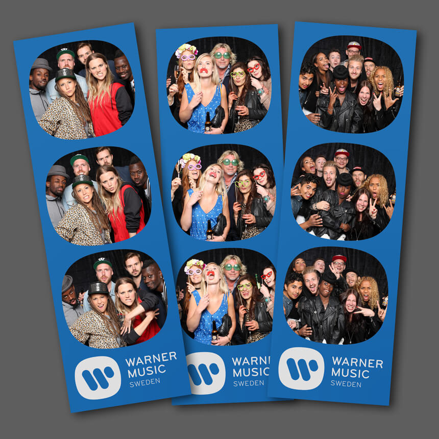 Bilder från vårt photobooth på Warner Musics sommarfest